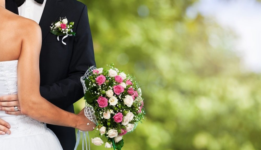 Brautpaar am Tag der Hochzeit